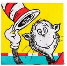 Cat in the Hat Dr Seuss Party Supplies Birthday Decoration Napkins Cake Dessert - $6.88