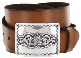 Taos Western Full Grain Leather Casual Jean Belt - $29.64