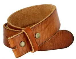 "BS040 Vintage Full Grain Leather Belt Strap 1.5"" Tan 46 - $19.95"