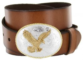 Gold American Eagle Full Grain Leather Casual Jean Belt - $29.64