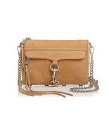 Rebecca Minkoff Mini MAC Sand/Silver Nubuck Crossbody Handbag -NWT - $175.57