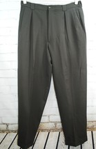 GIORGIO ARMANI Le Collezioni Mens Wool Dress Pants - Pleated Cuffed Gree... - $69.20