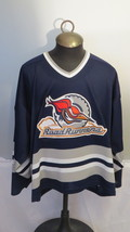 Edmonton Road Runners Jersey (AHL) - Away Blue Jersey - Men's Extra Large (Rare) - $175.00