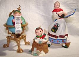 Hallmark 2001- Lettera, Globus & Mrs Claus Keepsake OrnamentS (3)-Collectors Clu - $11.50