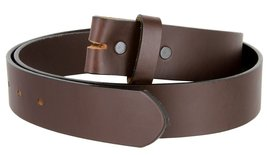 "Genuine Leather Cowhide Belt Blank Strap Made in the USA - 1-3/8"" (35mm) Wide... - $16.34"