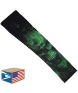 COMPRESSION ARM ELBOW SLEEVE Evil Skull Green Smoke BASKETBALL YS/YM/YL/... - $8.99