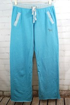 Victoria's Secret PINK Sweatpants Light Blue Sz Small Lounge Pants French Terry - $19.79
