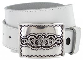 Taos Western One-Piece 100% Leather Casual Jean Belt - $29.64