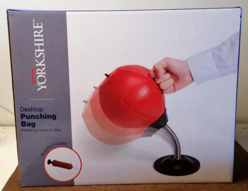 New Unopened Desktop Punching Bag w/Pump Executive Desk Toy Fun for Whole Office