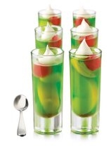 Bowl Libbey Just Desserts Parfait Glass with Minaiture Stainless Steel S... - $30.43