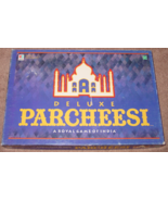 PARCHEESI DELUXE ROYAL GAME OF INDIA 1999 PARKER BROTHERS COMPLETE EXCELLENT - $25.00