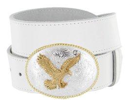 Gold American Eagle Full Grain Leather Casual Jean Belt - $29.64