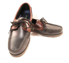 Sperry Top Sider Men's Boat Deck Shoe Leather Size 9.5 M Black Brown New image 7