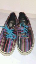 Womens Bohemian Styled Vans Tennis Shoes Size 3.5  - $16.72