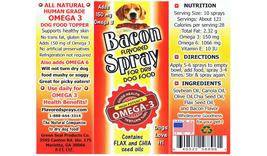 Bacon Spray Omega 3 Dog Food Topper image 3
