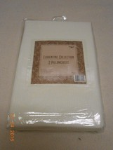 NEW LOT 2 MATCHING FLORENTINE COLLECTION PILLOWCASES LIGHT CREAM COLOR S... - $7.92