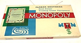 Vintage Monopoly Board Game by Parker Brothers 1961 made in USA  Salem, ... - $25.99