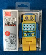 USB Hub Robot 4-port USB 2.0 Hub High Speed Original Design Yellow Blue - $19.78