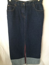 Armor Jeans Women's Denim Skirt Modest Modesty size 7/8 Very Good Condition - $19.78