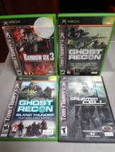 LOT (4) - XBOX - TOM CLANCY'S - RAINBOW SIX / GHOST RECON / CELL - VIDEO... - $14.99