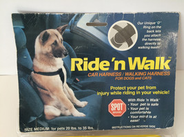 Ride'nWalk Pet Safety Car Harness / Walking Harness for Dogs and Cats s... - $19.78