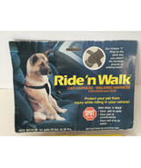 Ride'nWalk Pet Safety Car Harness / Walking Harness for Dogs and Cats sz Medium - $19.78