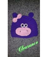 Purple Hippo Handmade  Crochet Kids Hat - $12.00