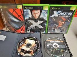 LOT (5) - XBOX - X-MEN / BATMAN / MARVEL NEMESIS / SPIDER-MAN - VIDEO GAMES - $19.99