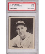 Hank Greenberg 1939 Play Ball #56 Baseball Card PSA 5 EX - $229.00