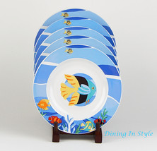 Set of 2 Salad Plates, NEAR MINT Under The Sea,... - $15.43
