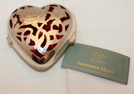Lenox Kirk Stieff Collection Silver Plated Friendship Heart Hinged Trinket - $34.04