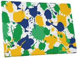 "Pingo World 0719QSM5CT4 ""Paint Splosh Abstract"" Gallery Wrapped Canvas Wall Art, - $54.40"