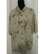 Jamaica Jaxx Shirt. Men Hawaiian shirt Silk Size  XL  Button Green  - $8.69