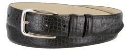 Armana Genuine Italian Calfskin Leather Dress Belt for Women(Alligator Black,... - $27.71