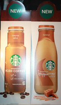 "2 x 39"" Cardboard Starbucks Frappuccino + Iced Coffee Advertising Displays - $127.12"