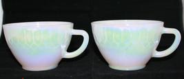 Vintage Federal Milk Glass 2 Aurora White Coffe... - $37.83