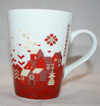 Starbucks 2013 Christmas Holiday 1 Coffee Mug Cups 11 oz  White Red House - $29.50