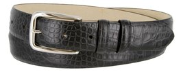 Armana Genuine Italian Calfskin Leather Dress Belt for Women(Alligator Black,... - $27.71