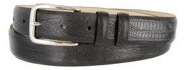 Armana Genuine Italian Calfskin Leather Dress Belt for Women(Lizard Black, 42) - $27.71