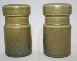 Vintage Wedgwood Sterling Salt and Pepper Shaker Set England Khaki AS-IS - $35.36
