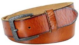 "Men's Genuine Full Grain Leather Casual Jeans Belt 1-1/2"" = 38mm (44, Tan) - $22.27"