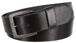 "Men's Genuine Full Grain Leather Casual Jeans Belt 1-1/2"" = 38mm (38, Black) - $22.27"