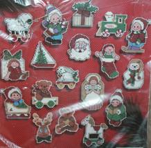 Janlynn Jolly Christmas Ornaments Set of 18 Cross Stitch Kit 77-625 New - $26.14