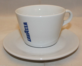 Lavazza Coffee White Blue Americano Mug Cup Sau... - $34.80