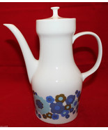 Vintage Melitta Germany Porcelain White Coffee Pot Colorful Flowers Retr... - $69.96