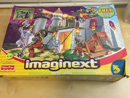 IMAGINEXT BATTLE CASTLE FISHER-PRICE INCOMPLETE ? W/ORIGINAL BOX AGES 4-... - $65.55