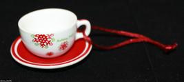 Starbucks Coffee Holiday 2007 Mini Christmas Ornament  White Red Mug Cup... - $29.50