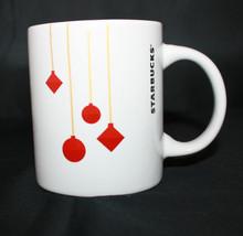 Starbucks Coffee Red Christmas Ornaments white Coffee Tea Mug Cup 10.8 f... - $29.50
