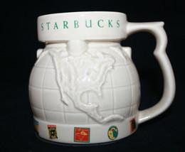 Starbucks Coffee Embossed International Globe Travel Coffee Tea Mug with... - $28.74