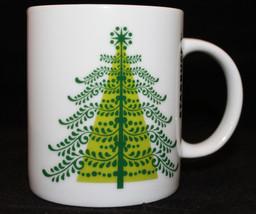 Starbucks Coffee 2011 White Green Tree 10fl oz CoffeeTea Mug Cup Rare Ch... - $43.88